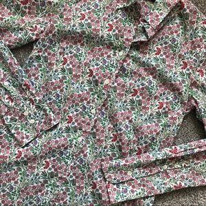 J. Crew Liberty Arts Fabrics Button Up LS Blouse
